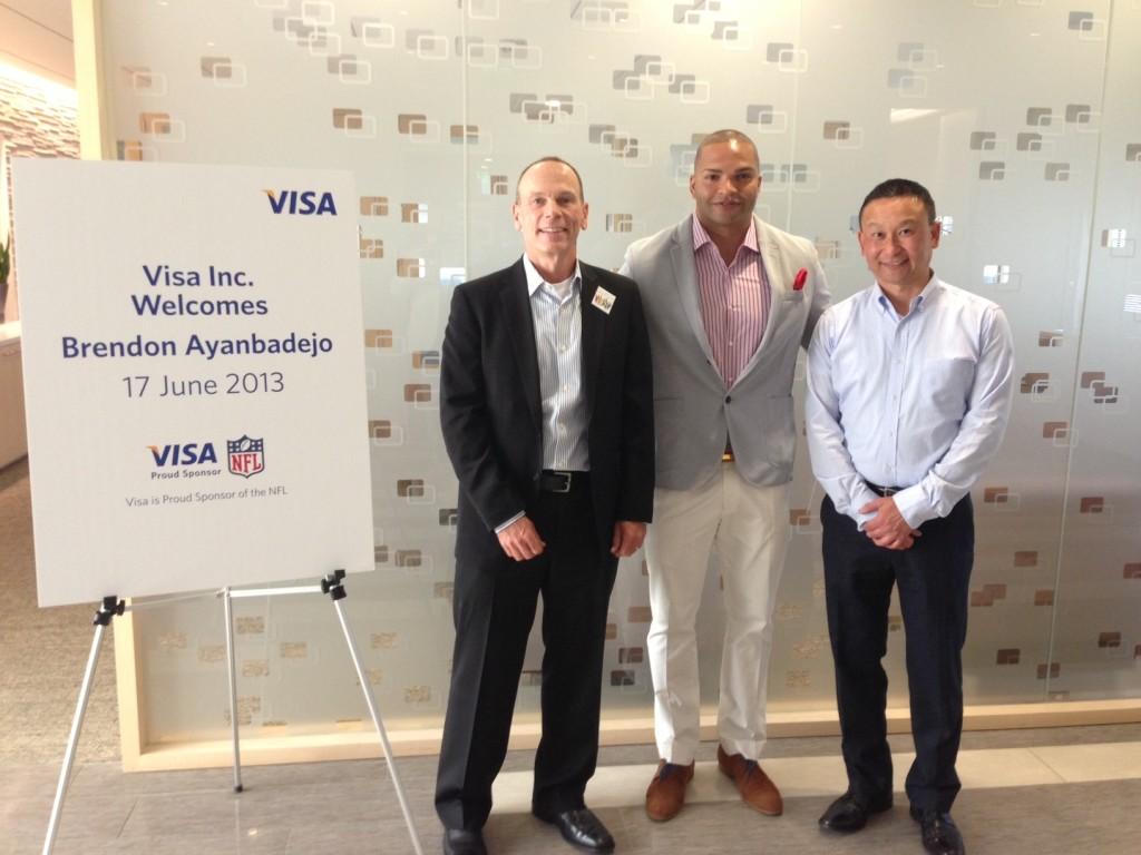 Brendon Ayanbadejo Visa Corporation